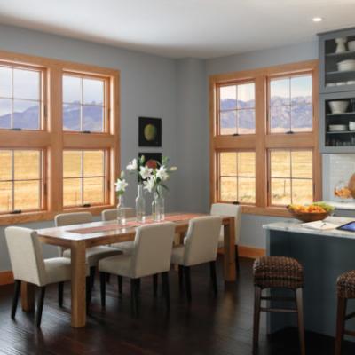 wood-clad windows