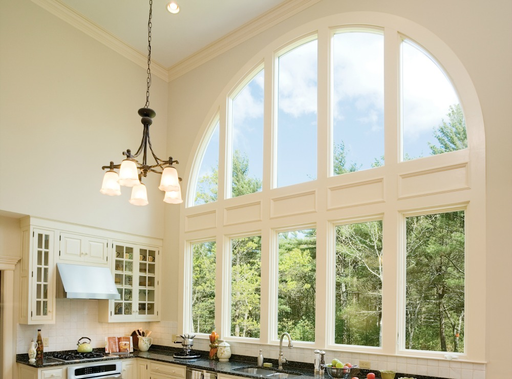 arched windows and radius casement windows