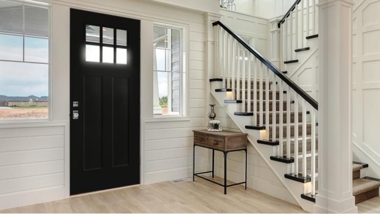 aluminum-clad exterior door