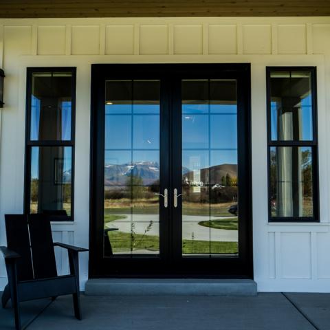 Aluminum clad wood doors