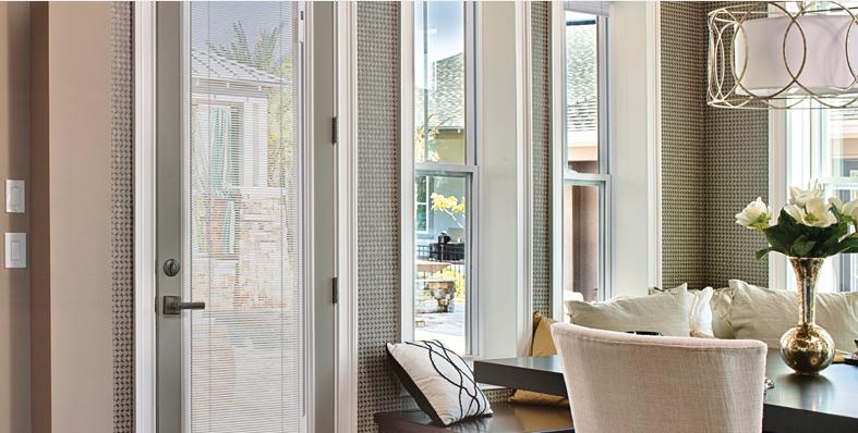 doors with blinds between the glass