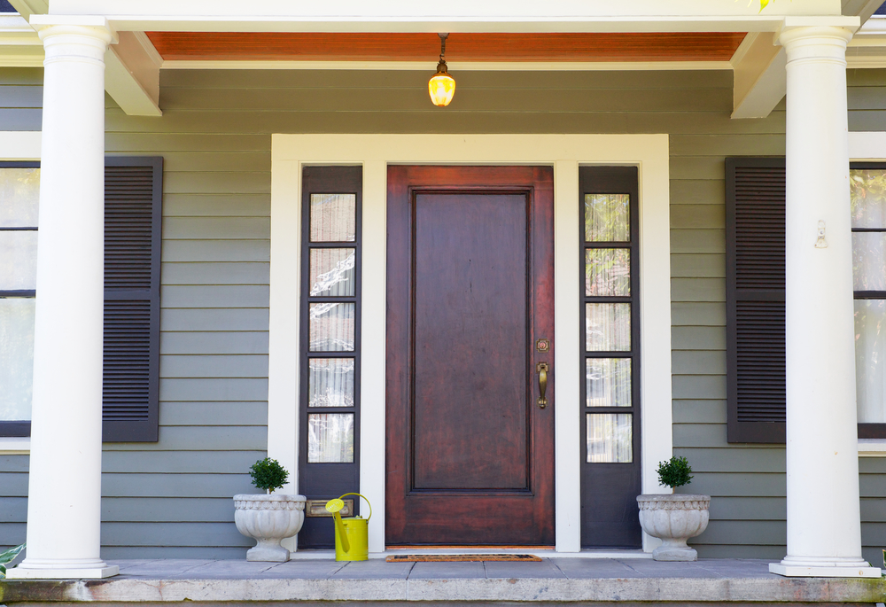 How to care for wood front doors